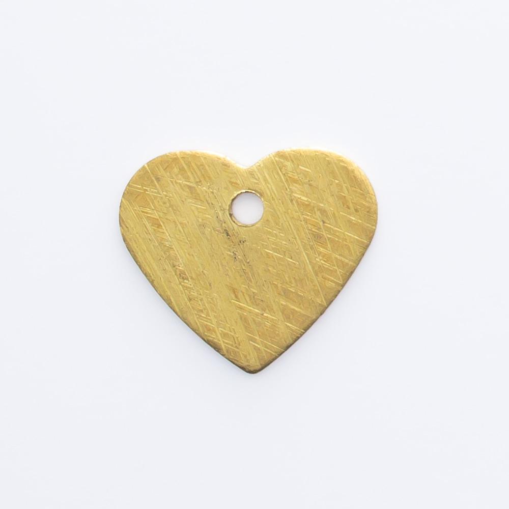 Coração com furo 9,72mmx11,12mm