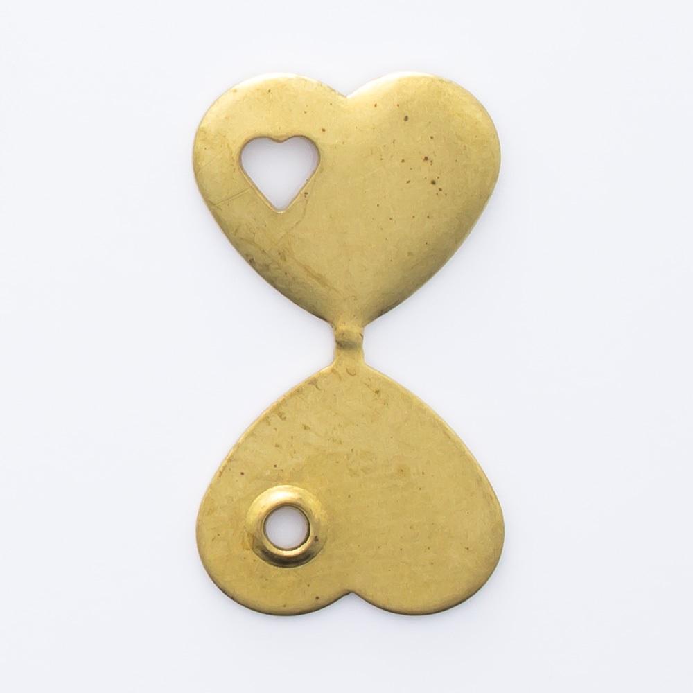 Coração dobrável com coração 10,00mmx11,35mm