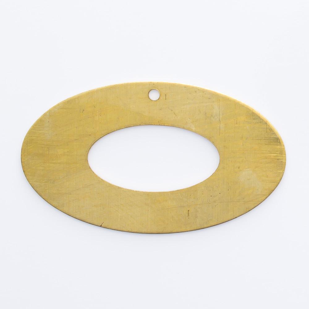Oval vazado com furo 16,35mmx28,34mm