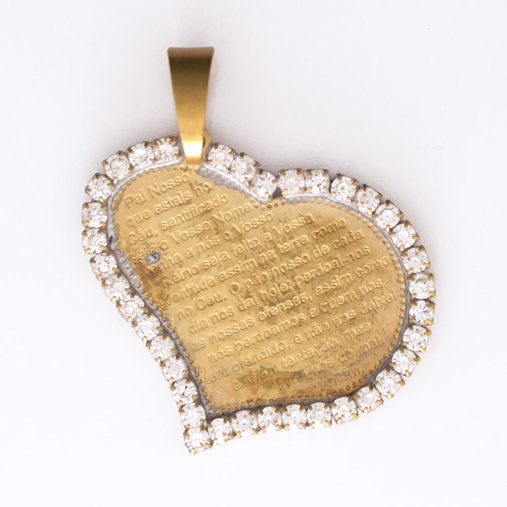 Pingente Coração com Strass JD 2101-1