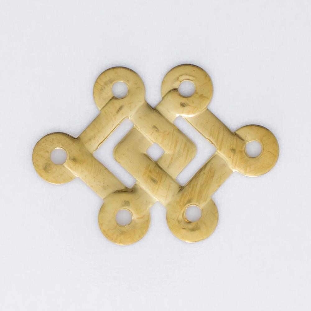 Losango duplo com 6 argolas 16,35mmx21,66mm