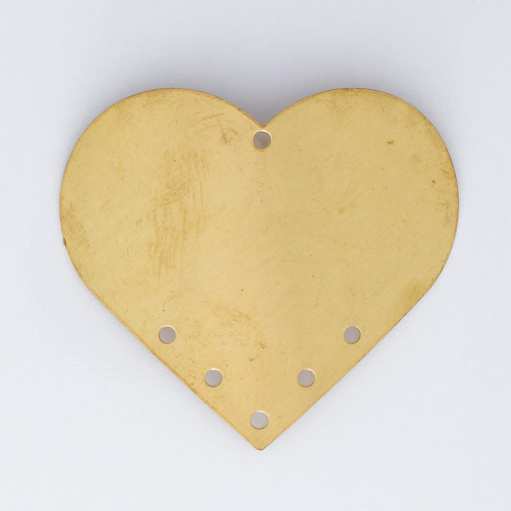 Coração abaulado 31,27mmx34,47mm