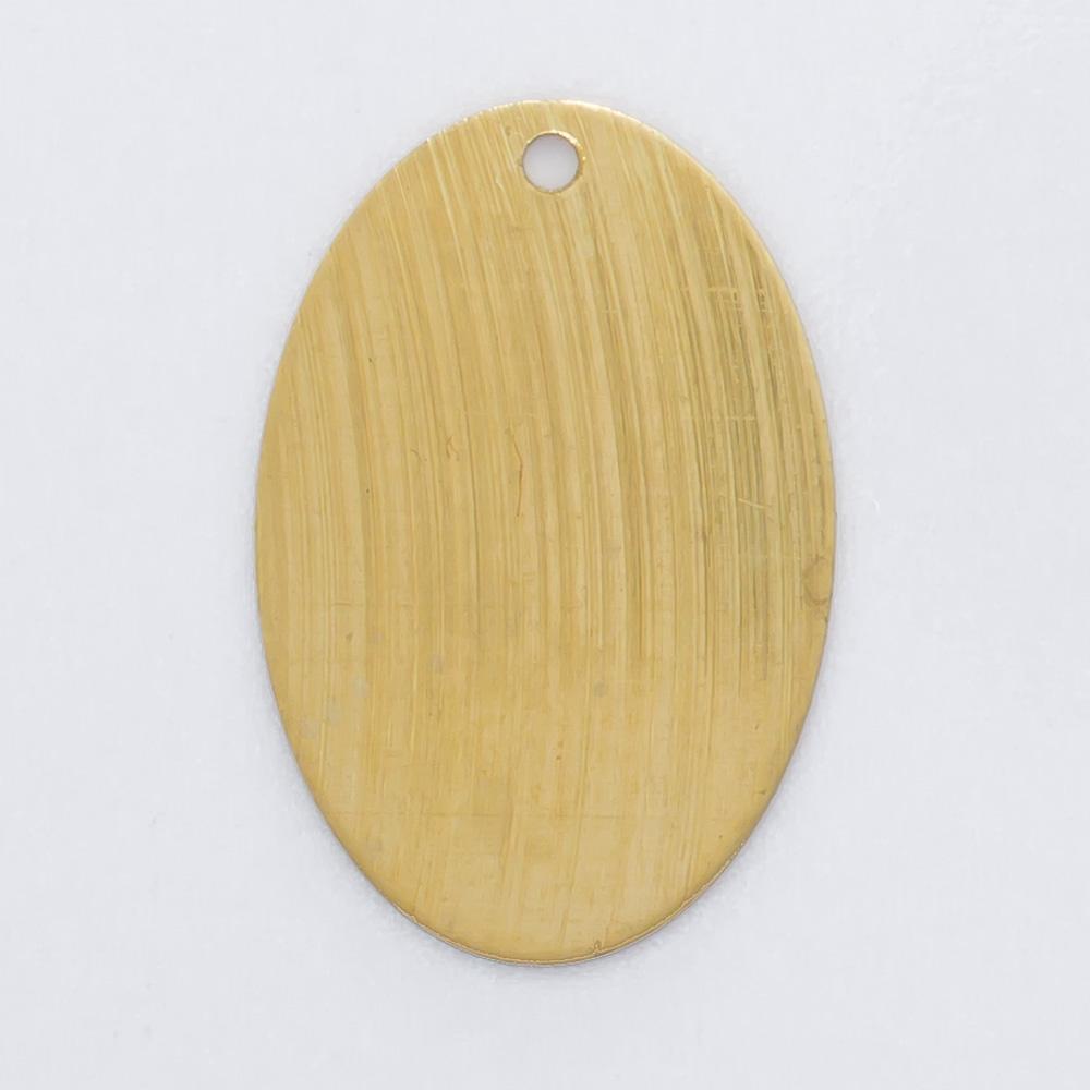 Oval com furo 17,87mmx12,20mm