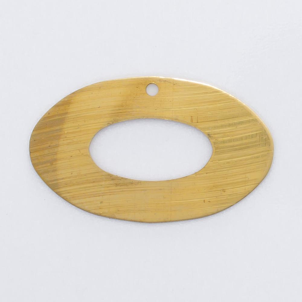 Oval vazado com 1 furo 14,04mmX22,44mm