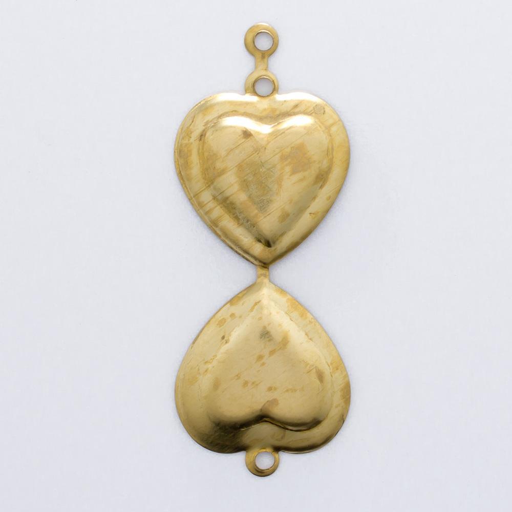 Coração dobrável com argolinha 16,95mmx14,50mm