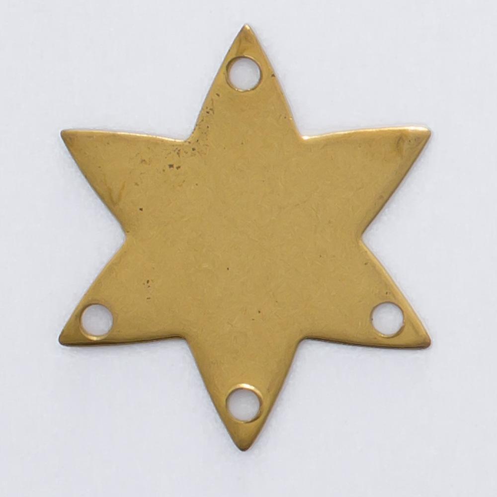 Estrela com com 4 furos 16,12mmx14,10mm