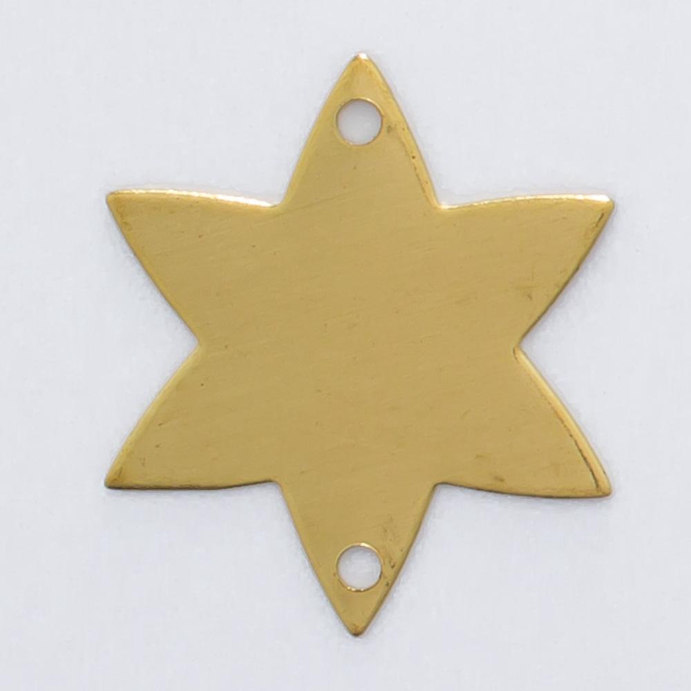 Estrela com com 2 furos 16,12mmx14,10mm