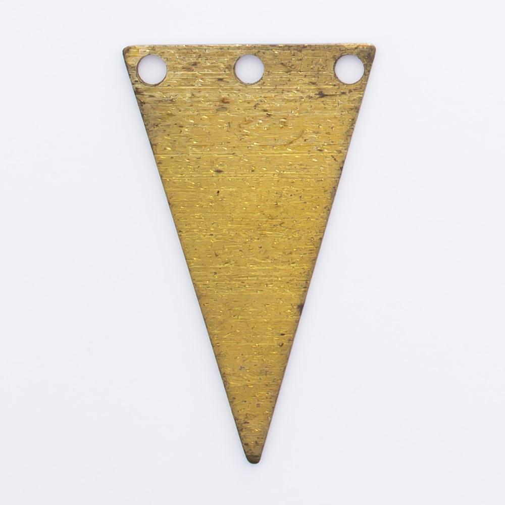 Triângulo invertido com 3 furos 21,12mmx12,72mm
