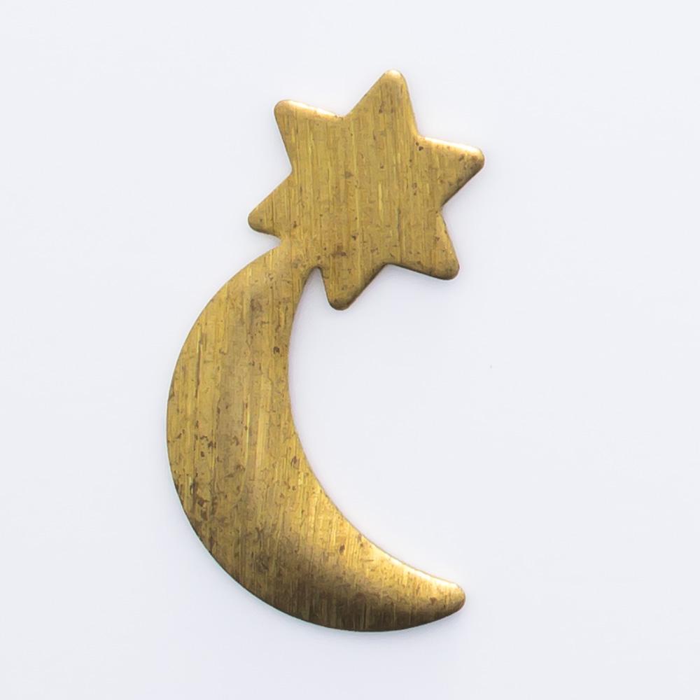 Lua com estrela 17,69mmx9,69mm