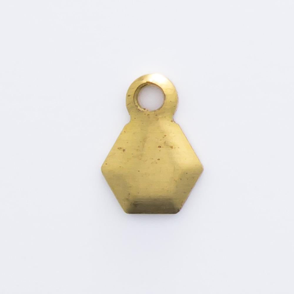 Hexágono com argolinha 6,77mmx4,94mm