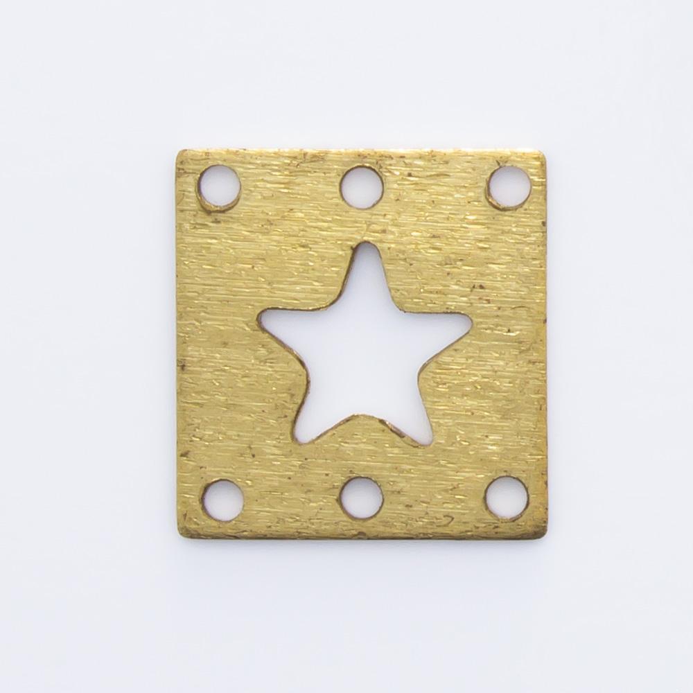 Retângulo com estrela vazada 9,55mmx9,06mm