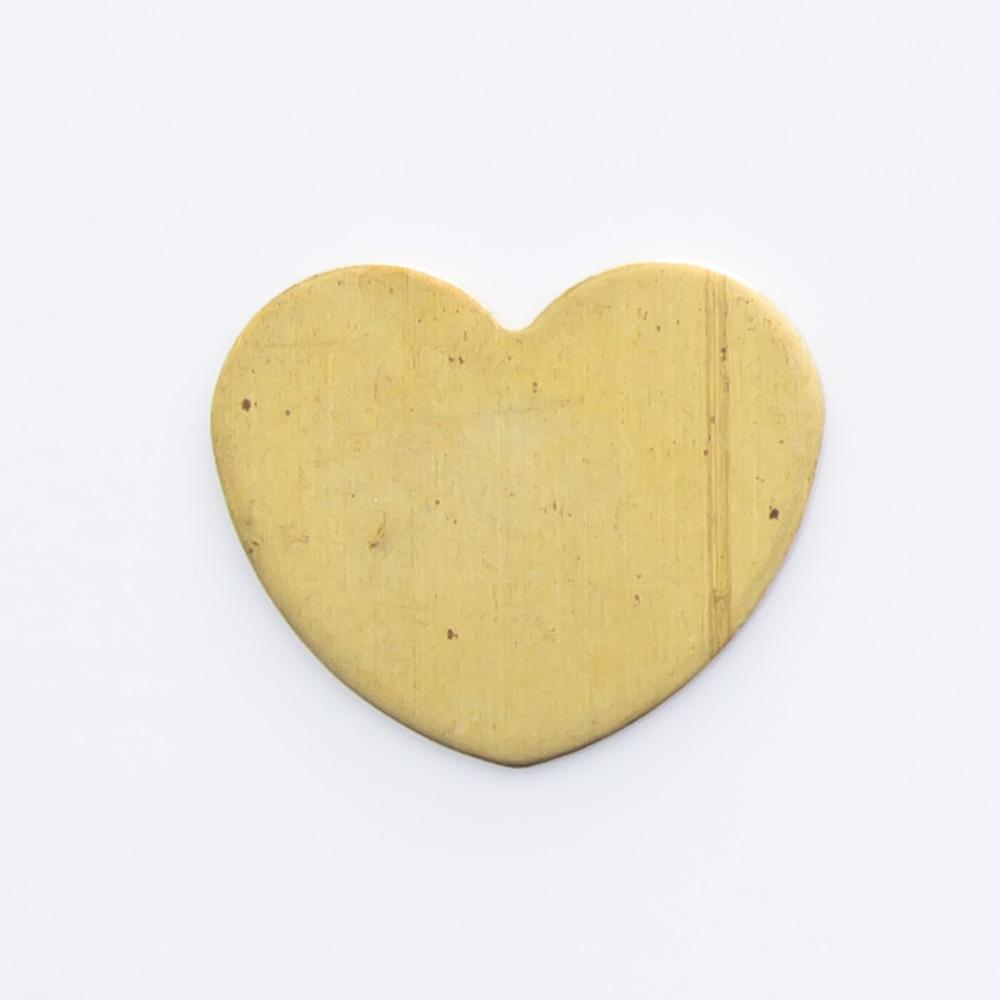 Coração sem furo 7,19mmx8,74mm