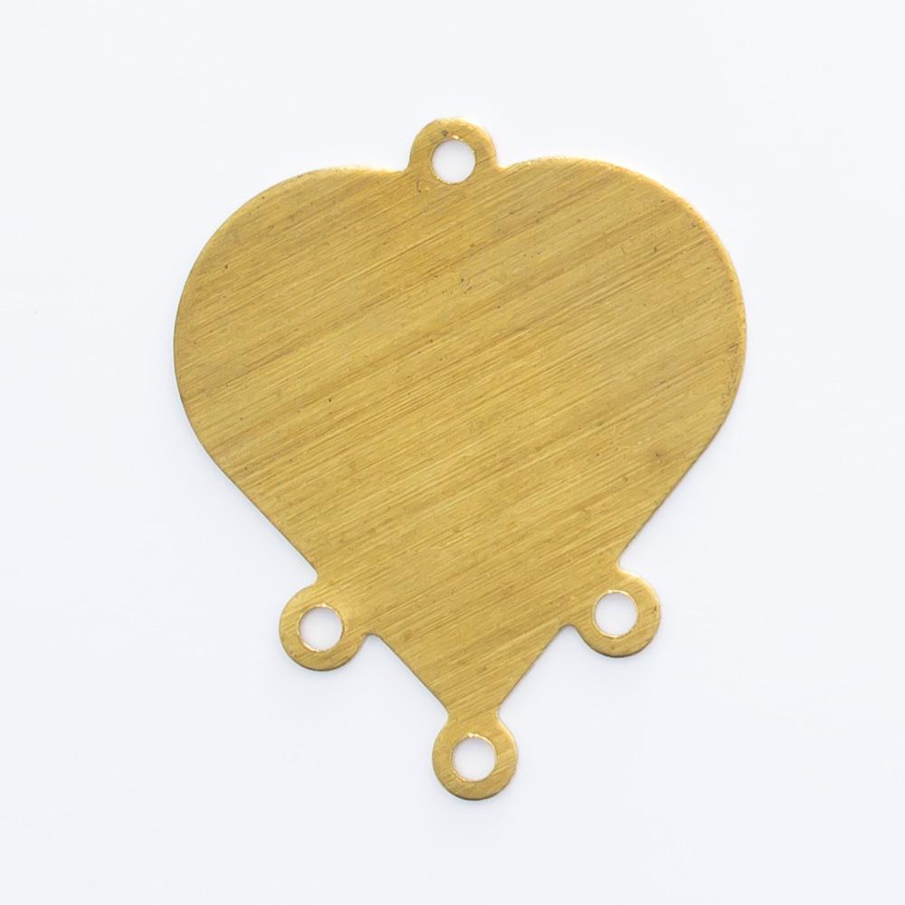 Coração com 4 argolas 18,98mmx16,03mm