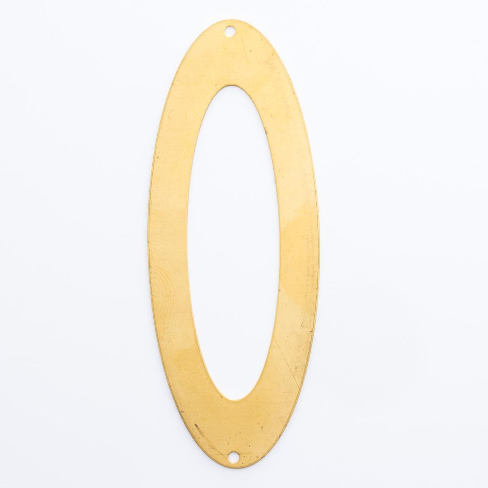 Oval vazado com 2 furos 62,30mmx23,82mm