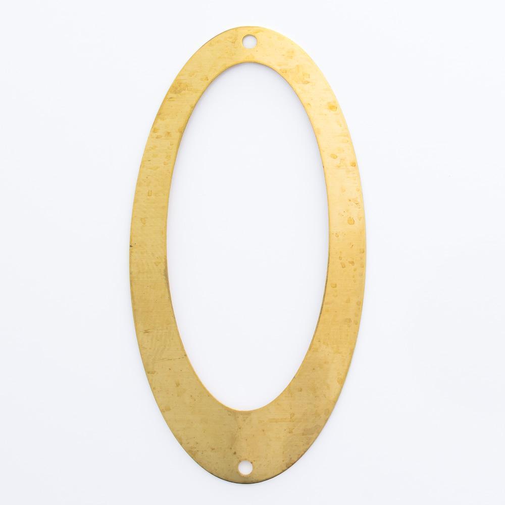 Oval vazado com 2 furos 47,00mmx24,27mm