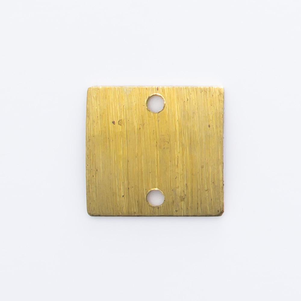 Quadrado abaulado com 2 furos 9,15mmx9,65mm