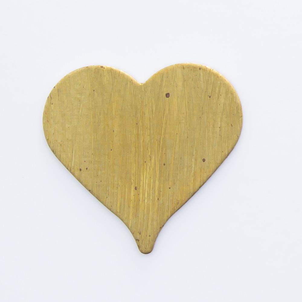 Coração lixado 10,40mmx10,95mm