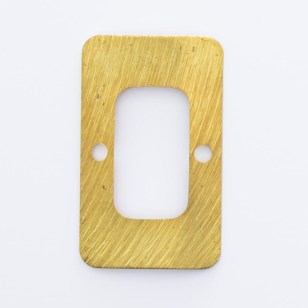 Retângulo vazado com 2 furos 20,01mmx12,22mm