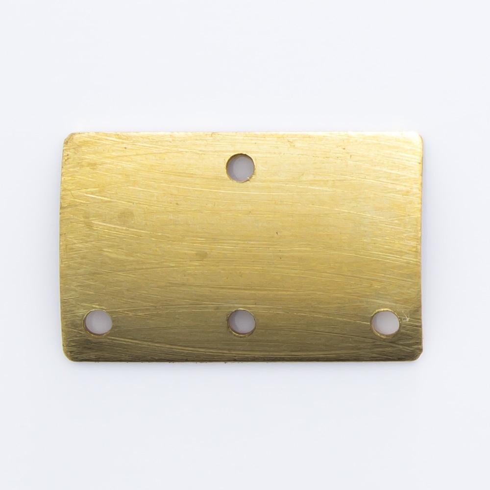 Retângulo abaulado com 4 furos 10,31mmx16,07mm