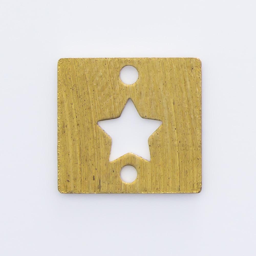 Quadrado com 2 furos e estrela 9,06mmx9,65mm