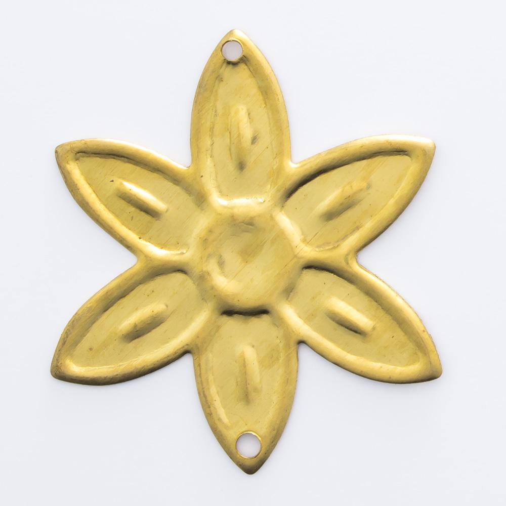 Flor com 2 furos 27,10mmx23,96mm