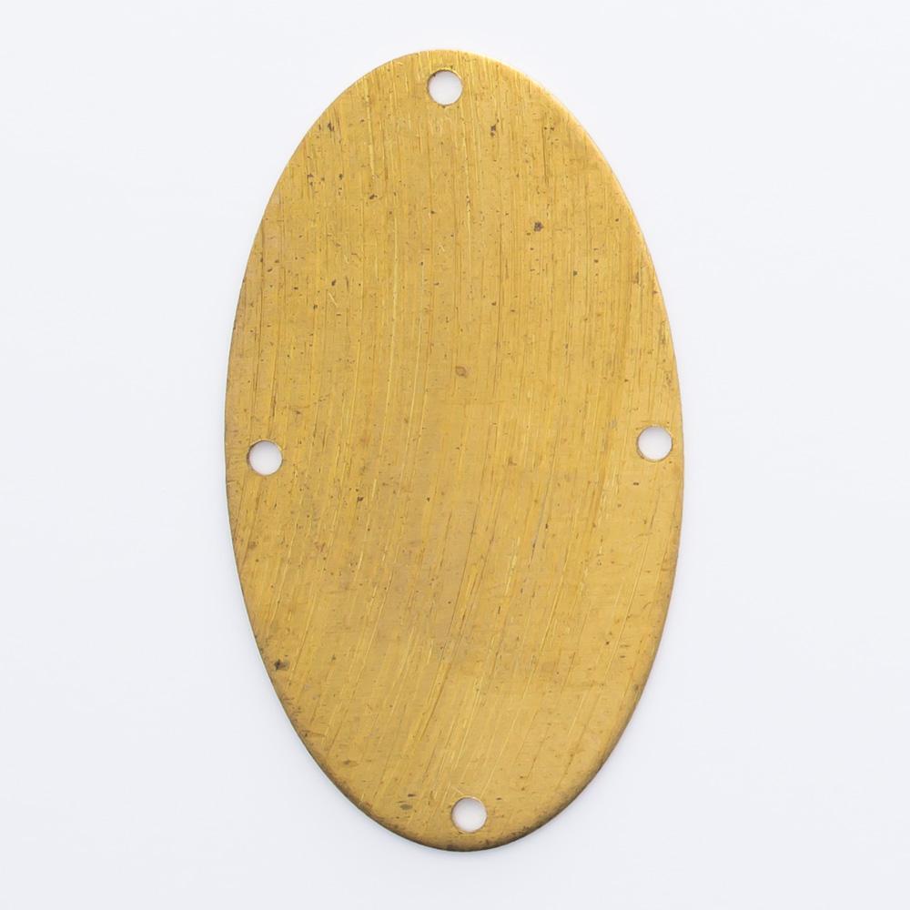 Oval com 4 furos 28,20mmx16,20mm