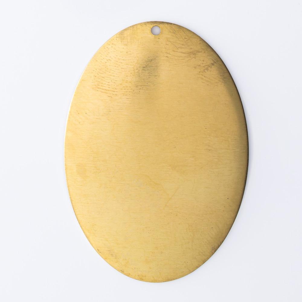 Oval abaulado com furo 40,00mmx28,30mm