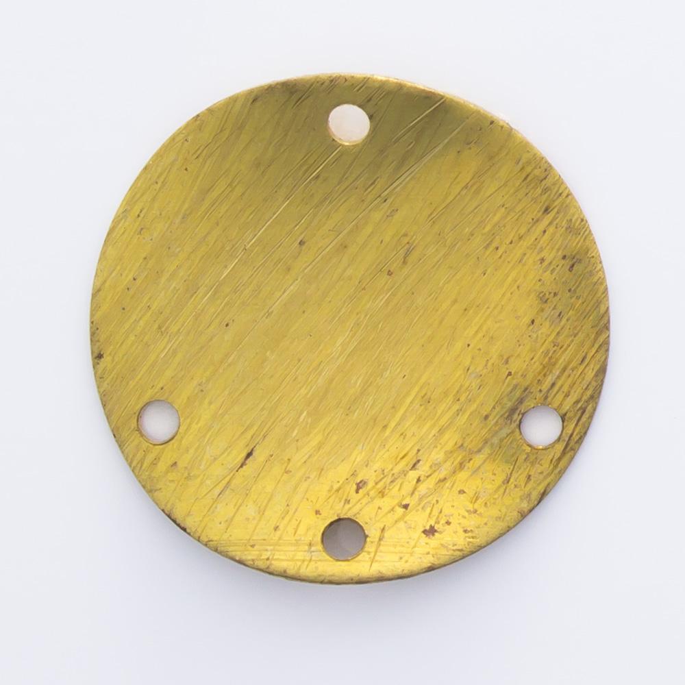 Redondo abaulado com 4 furos 15,11mm
