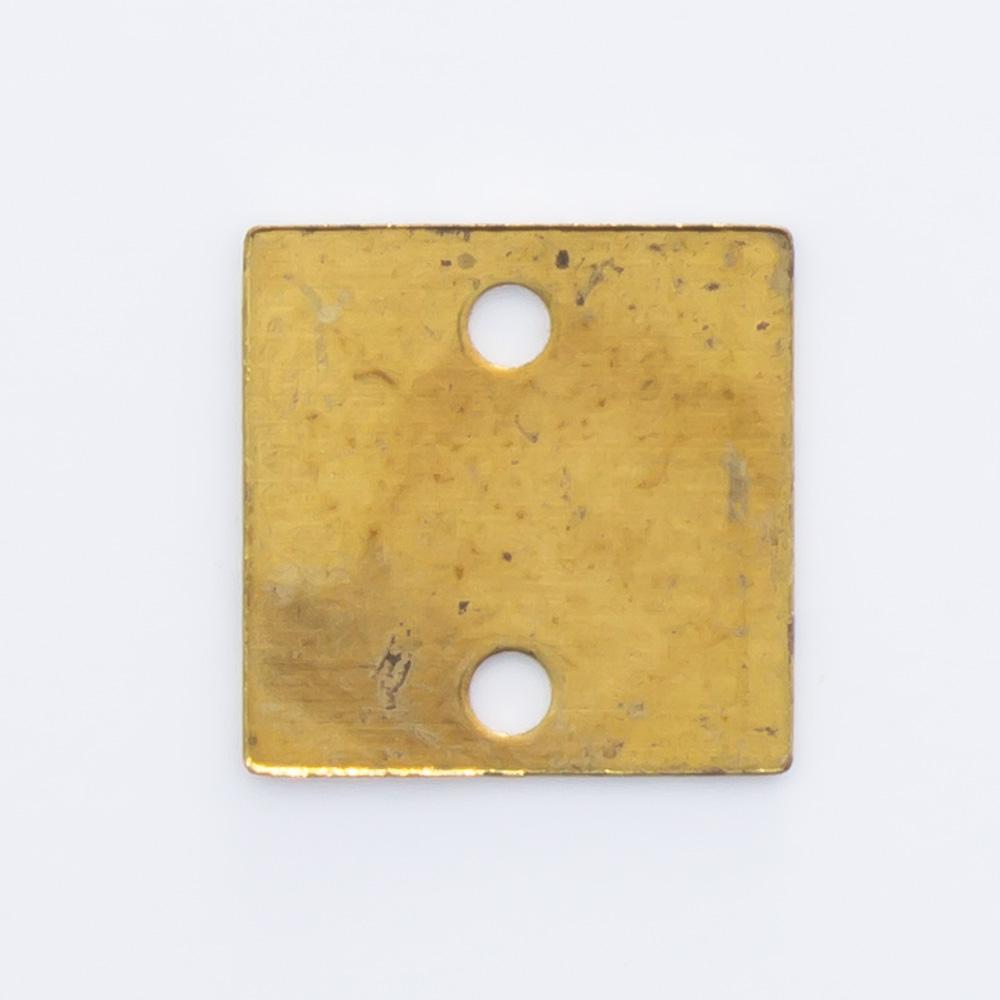 Quadrado com 2 furos 7,90mmx7,90mm