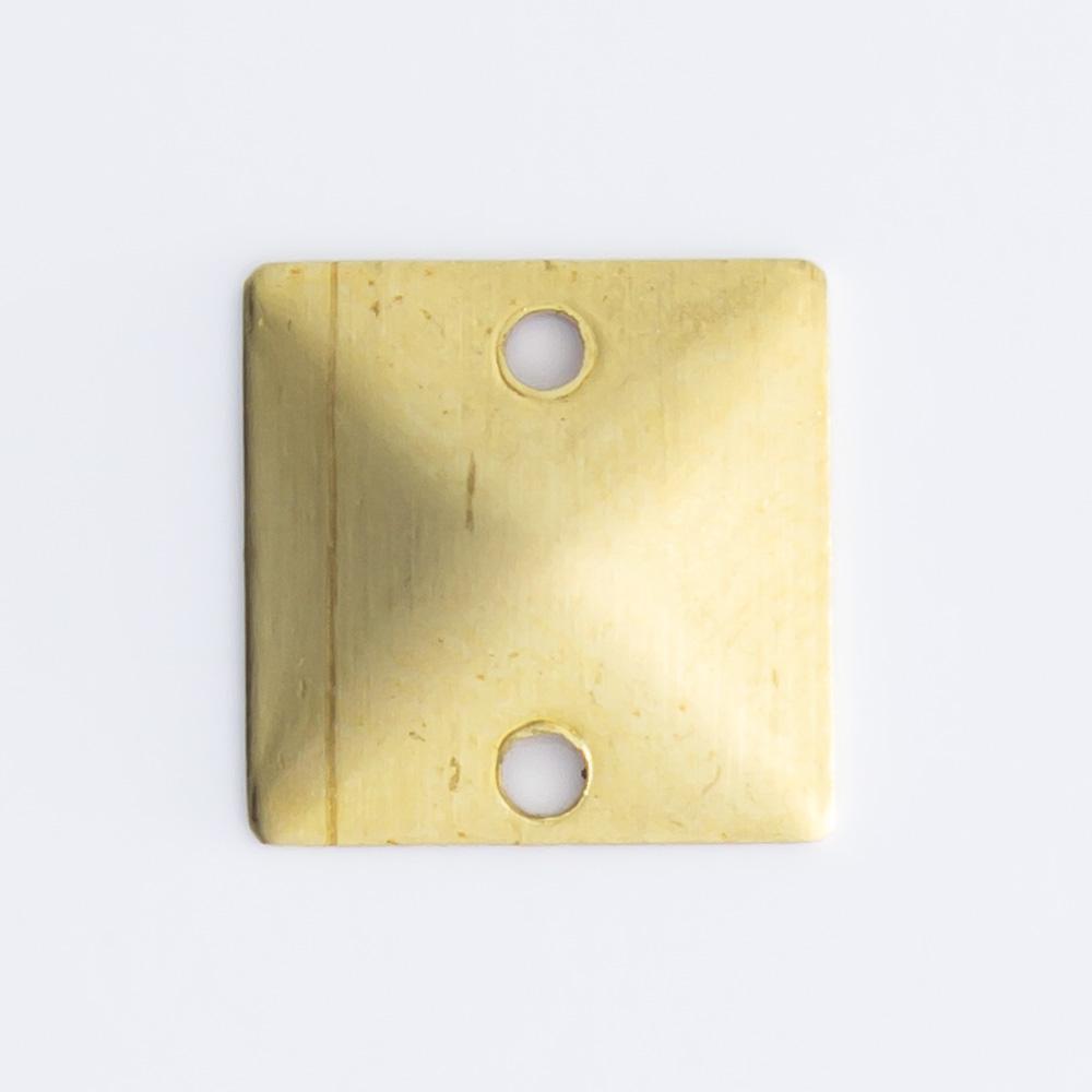Quadrado com 2 furos  8,10mmx8,10mm