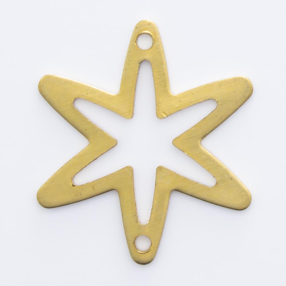 Estrela vazada com 2 furos 16,63mmx14,67mm