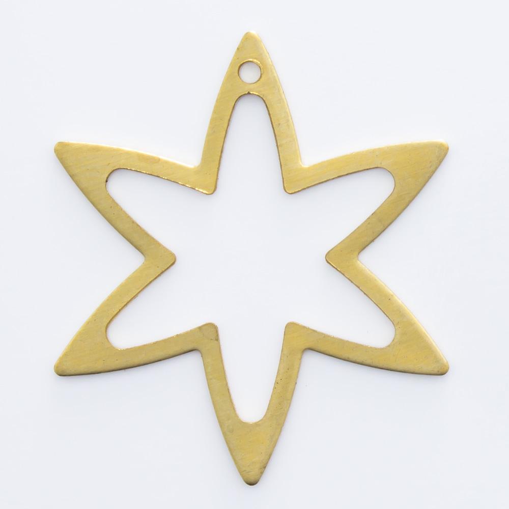 Estrela vazada com furo 22,92mmx20,00mm