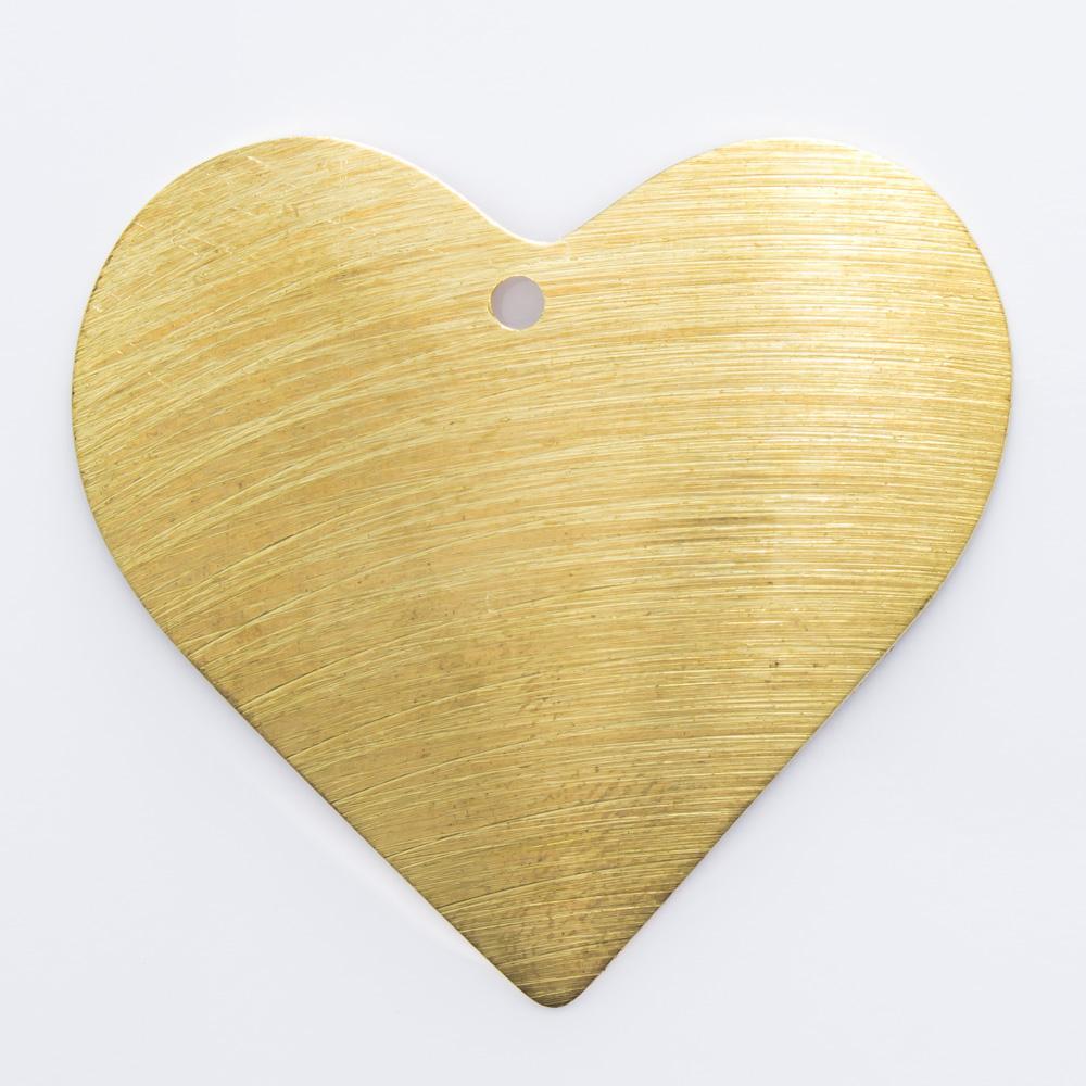 Coração com furo 32,56mmx35,25mm