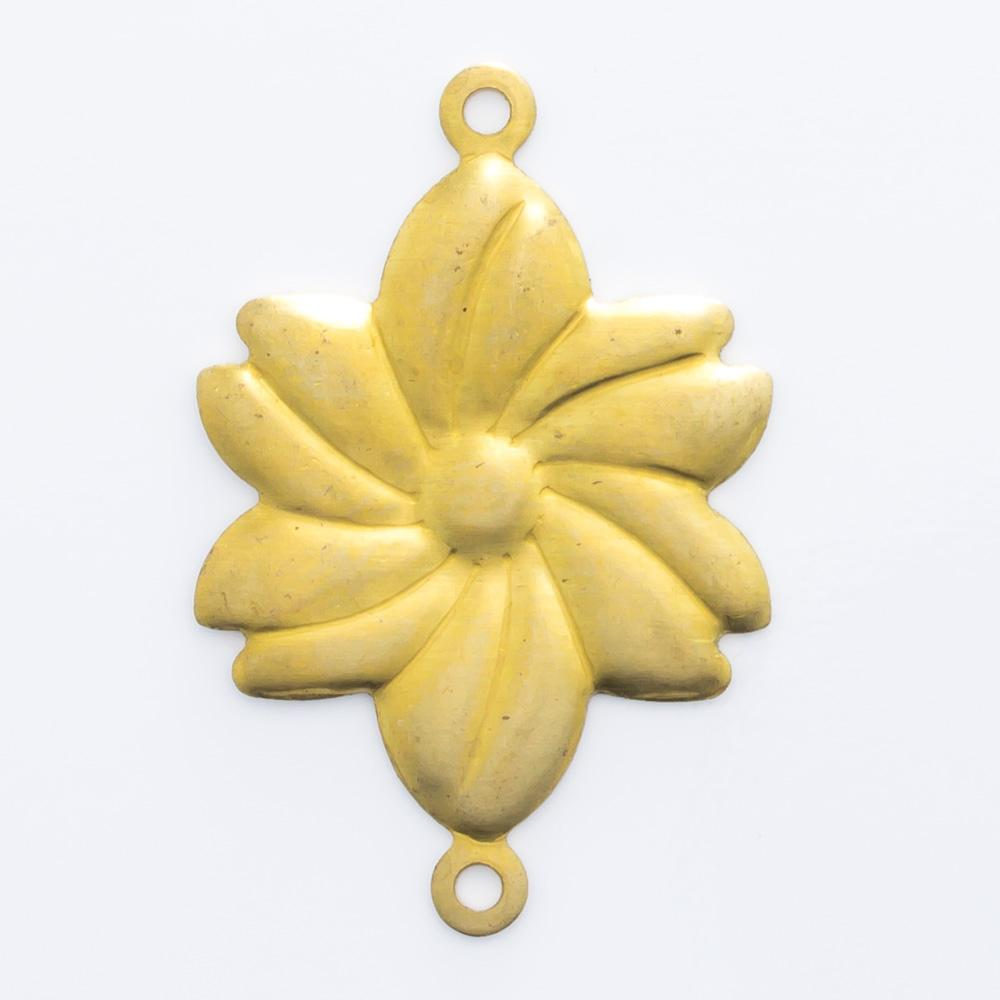 Flor com 2 argolinhas 22,72mmx15,03mm