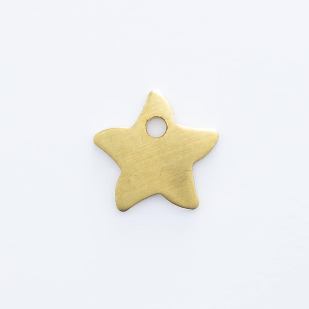 Estrela com furo 5,95mmx6,20mm