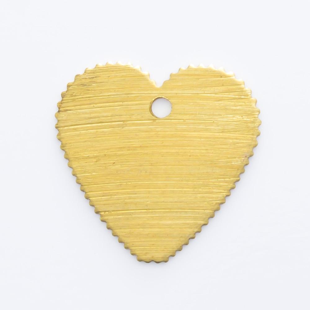 Coração com furo 11,80mmx12,20mm