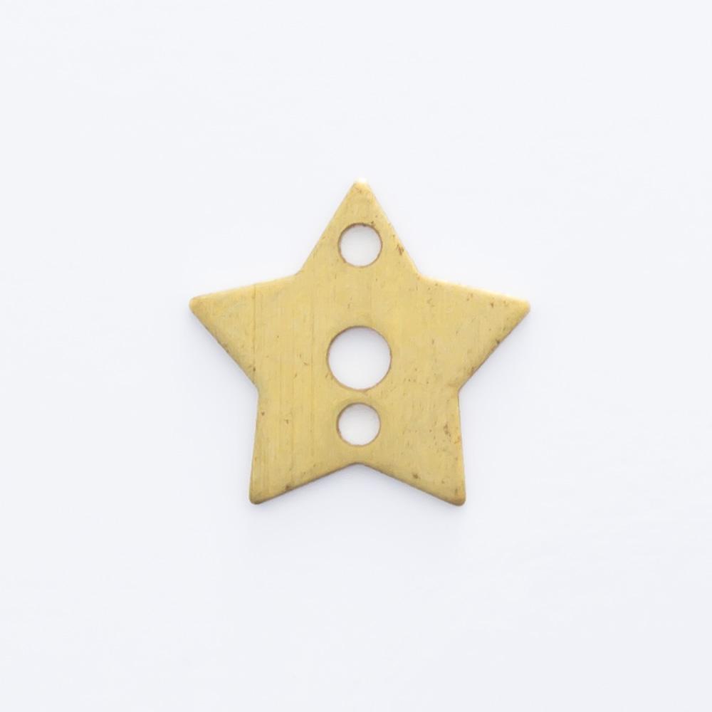 Estrela vazada com 2 furos 7,80mmx8,20mm