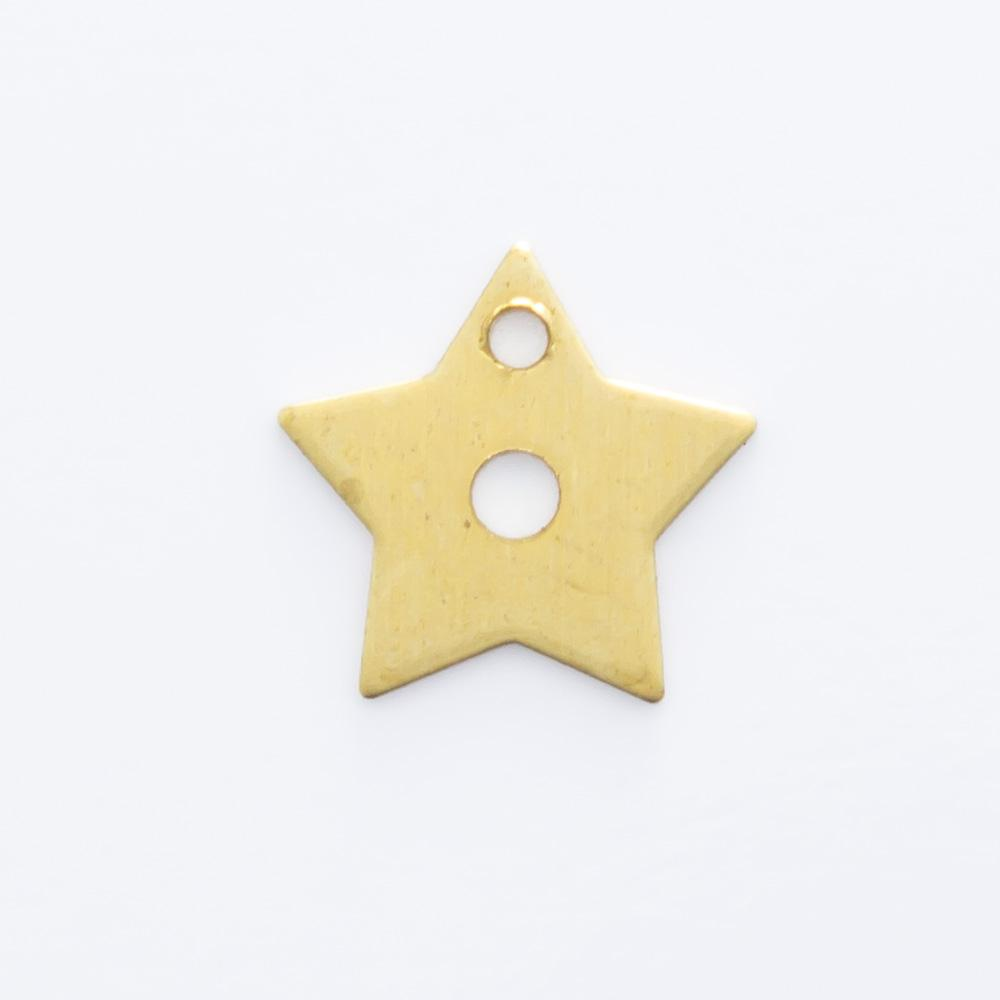 Estrela vazada com furo 7,80mmx8,20mm