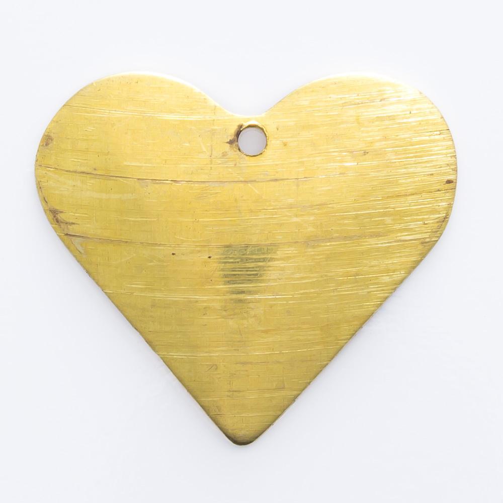 Coração com furo 15,65mmx17,70mm
