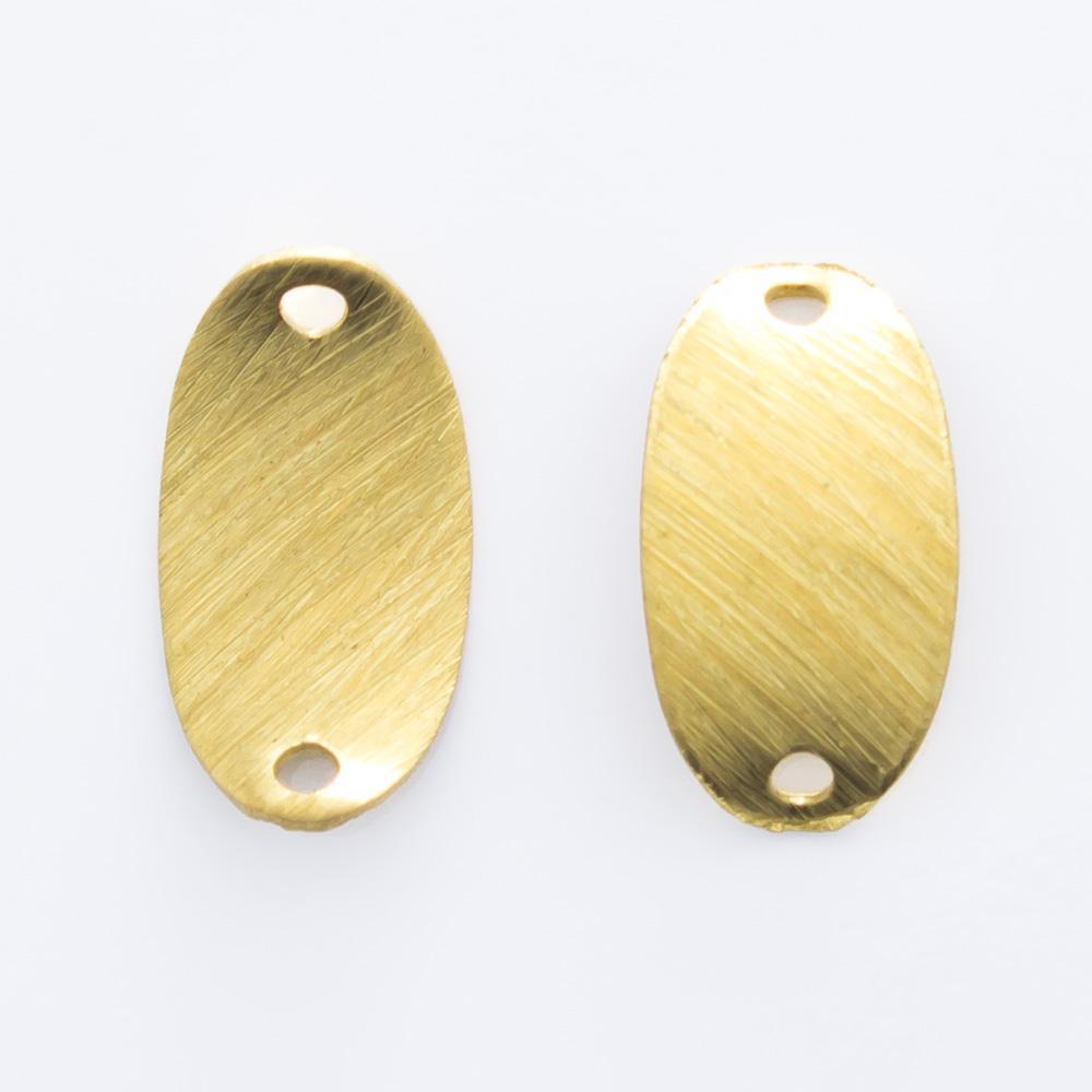 Oval abaulado com 2 furos 11,15mmx6,10mm