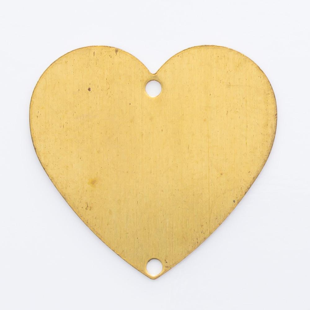 Coração com 2 furos 17,24mmx18,25mm