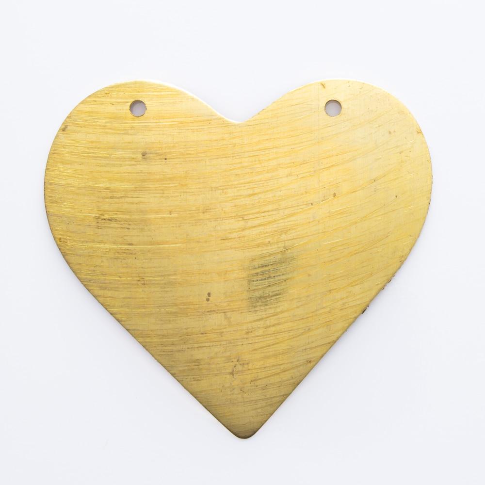 Coração com 2 furos 32,54mmx35,20mm