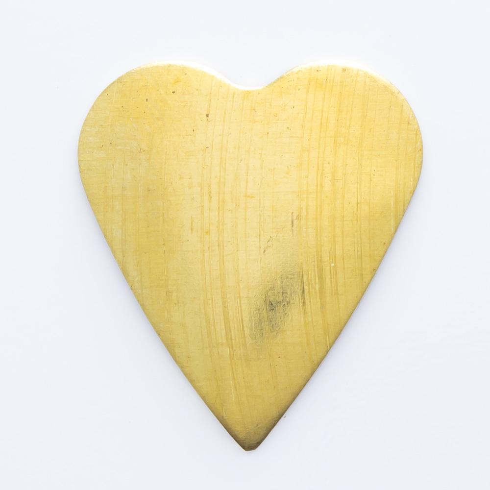 Coração abaulado sem furo 18,24mmx16,15mm