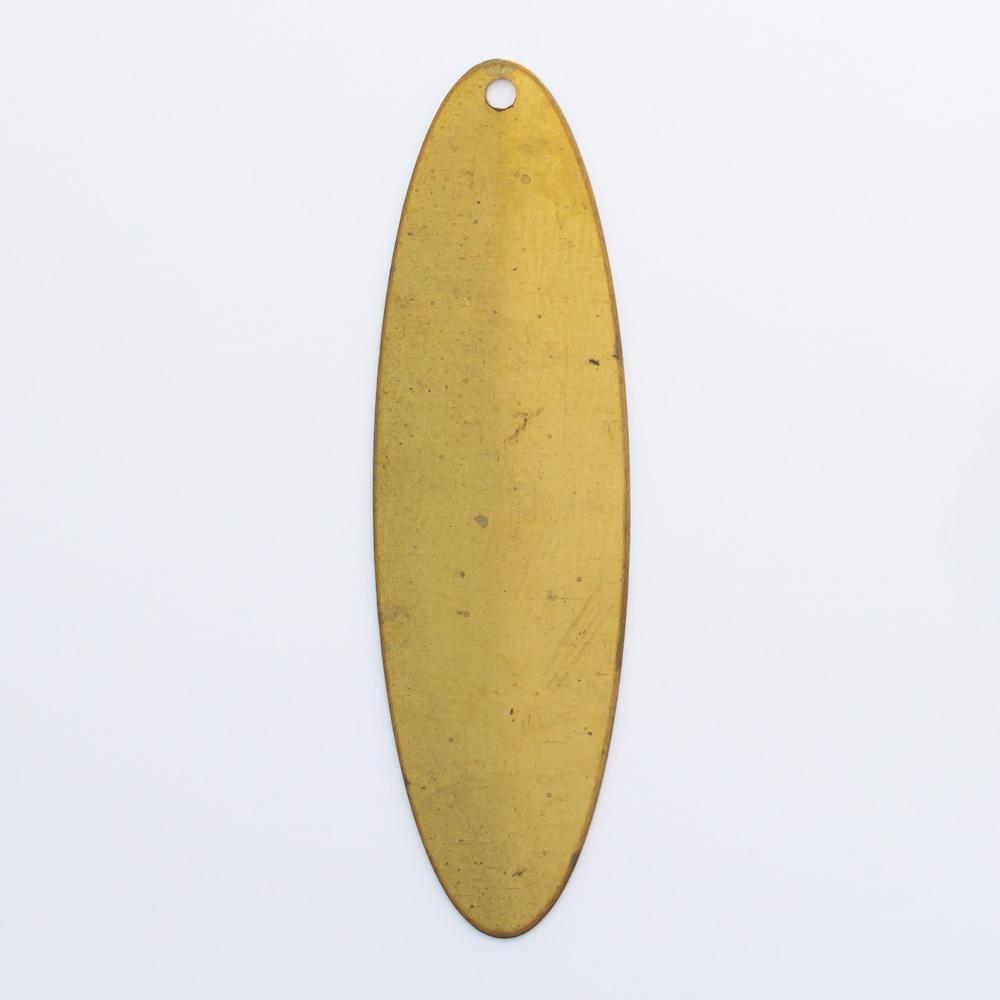 Oval com furo 43,53mmx12,82mm