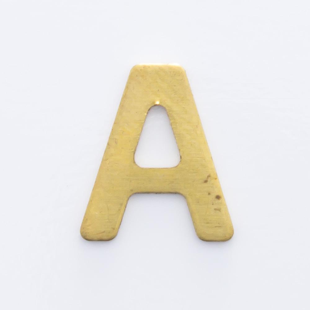 """Letra """"A"""" sem furo 8,84mmx7,64mm"""