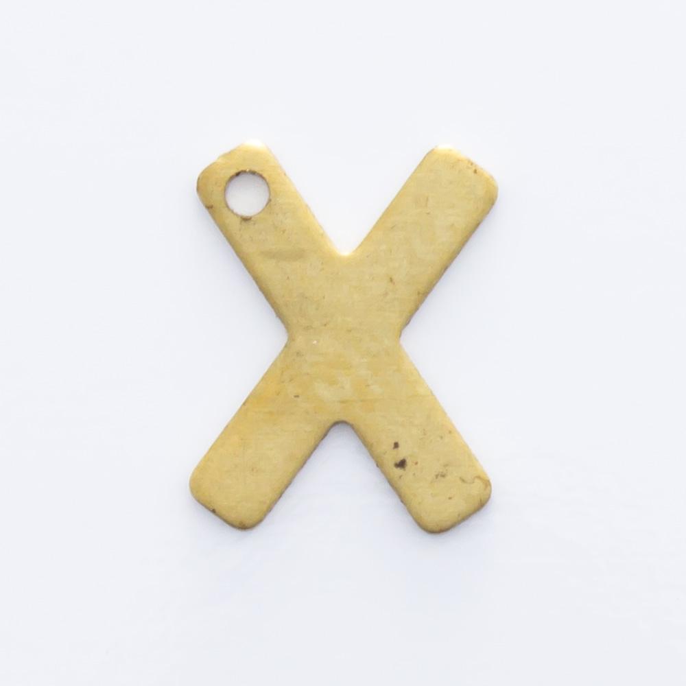 """Letra """"X"""" com furo 8,77mmx6,80mm"""