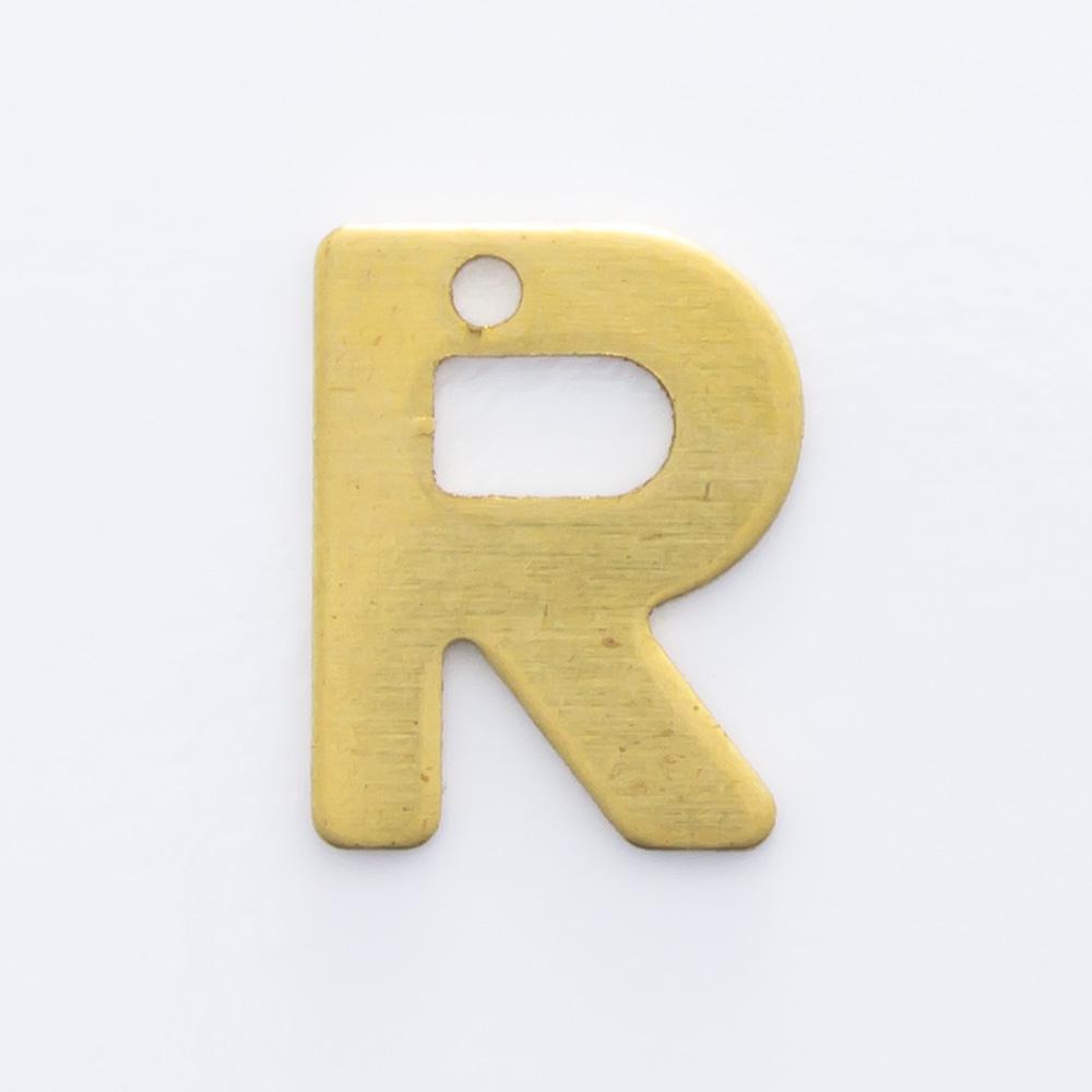"Letra ""R"" com furo 8,84mmx6,93mm"