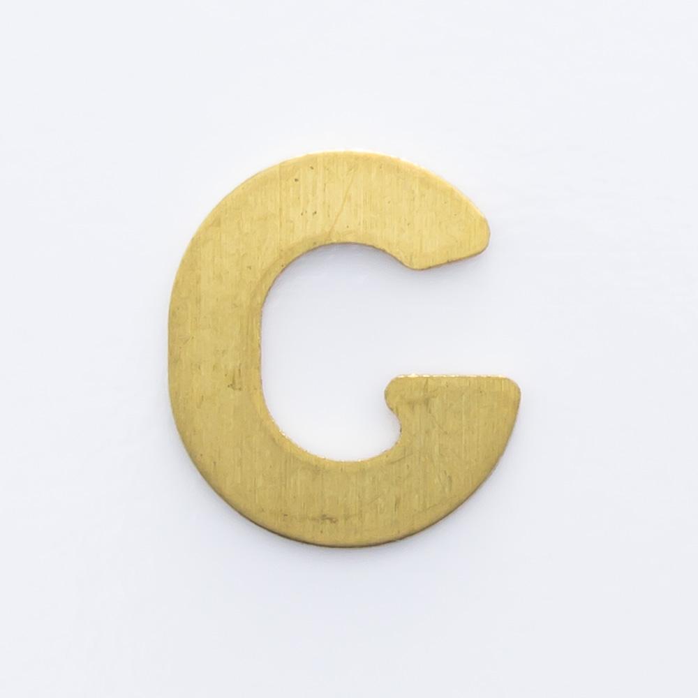 "Letra ""G"" sem furo 8,84mmx7,84mm"