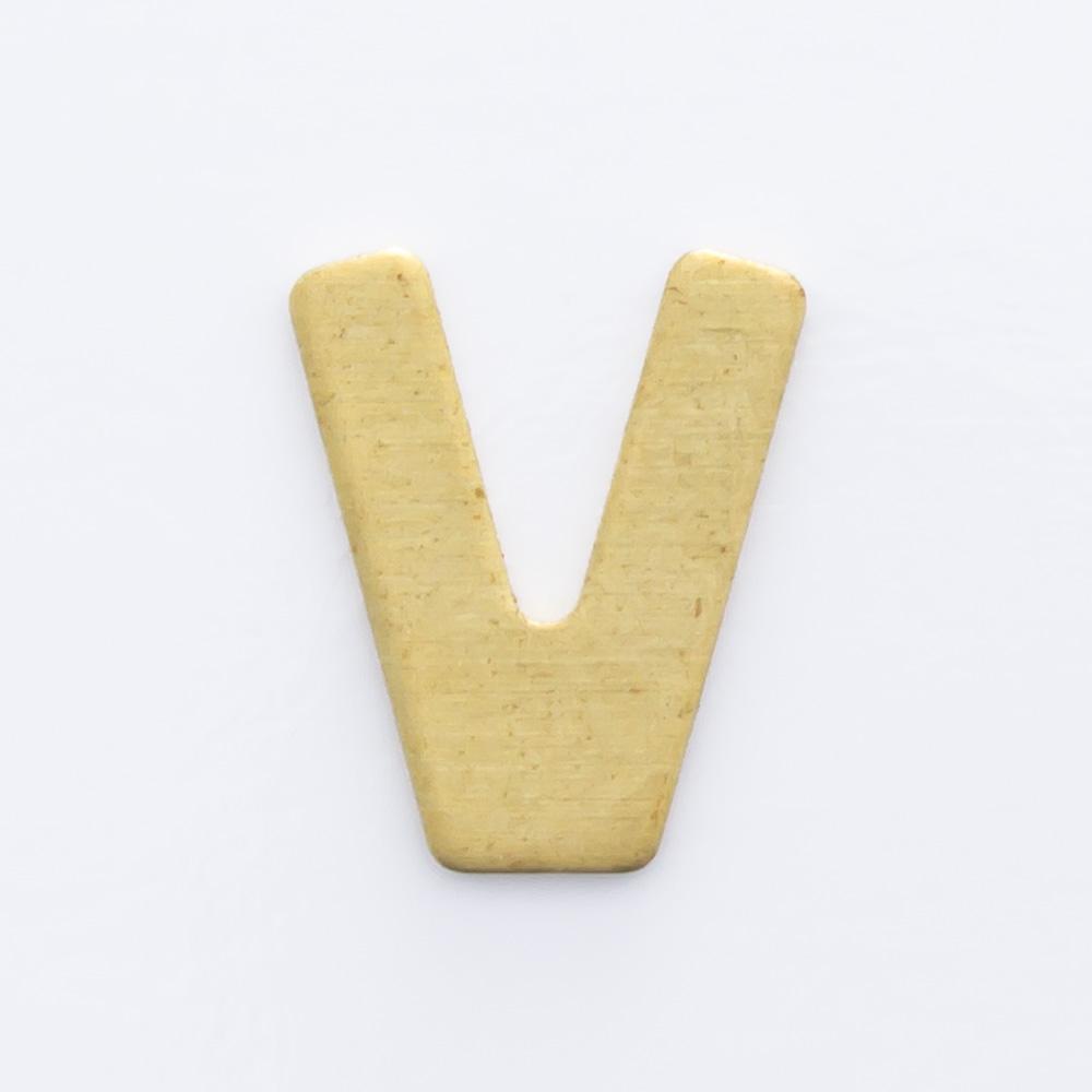 """Letra """"V"""" sem furo 8,84mmx7,30mm"""