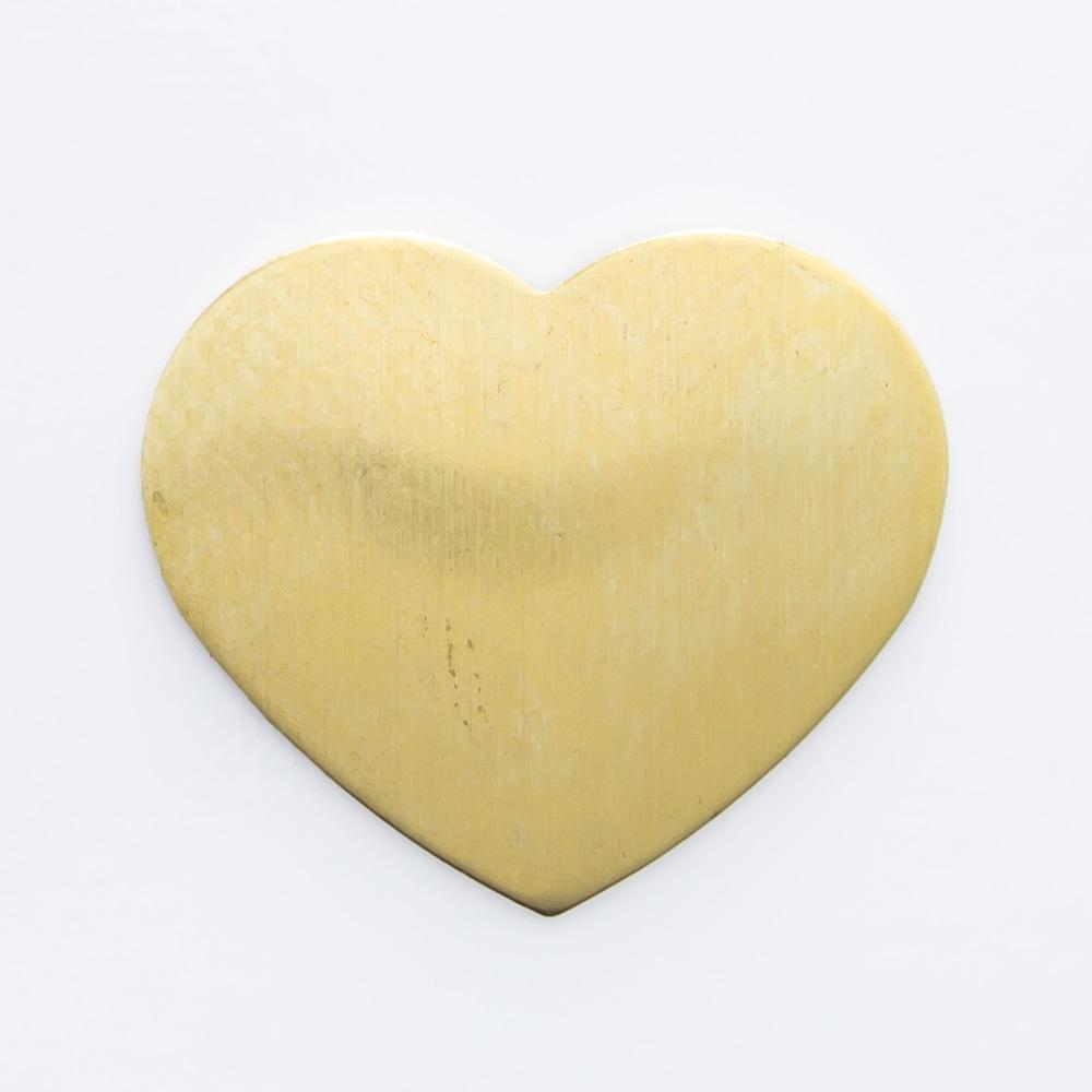 Coração abaulado sem furo 12,00mmx14,23mm